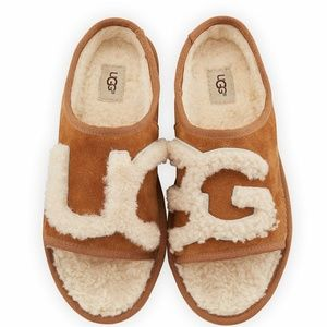 UGG Slide Slippers Sheepskin Chestnut NEW IN BOX
